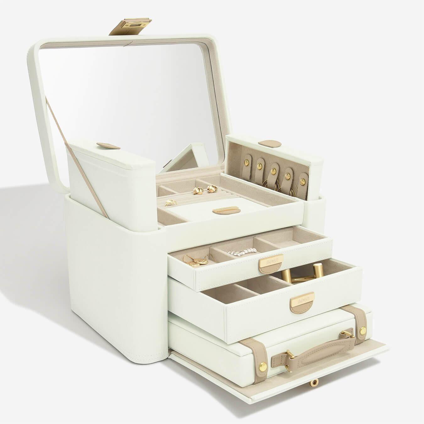 """קופסת תכשיטים אקסטרה לארג'  """"ויקטוריה"""" עם מזוודה לנסיעות"""
